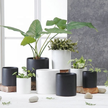 Simplism elegant design indoor outdoor home decor ceramic pots for plants