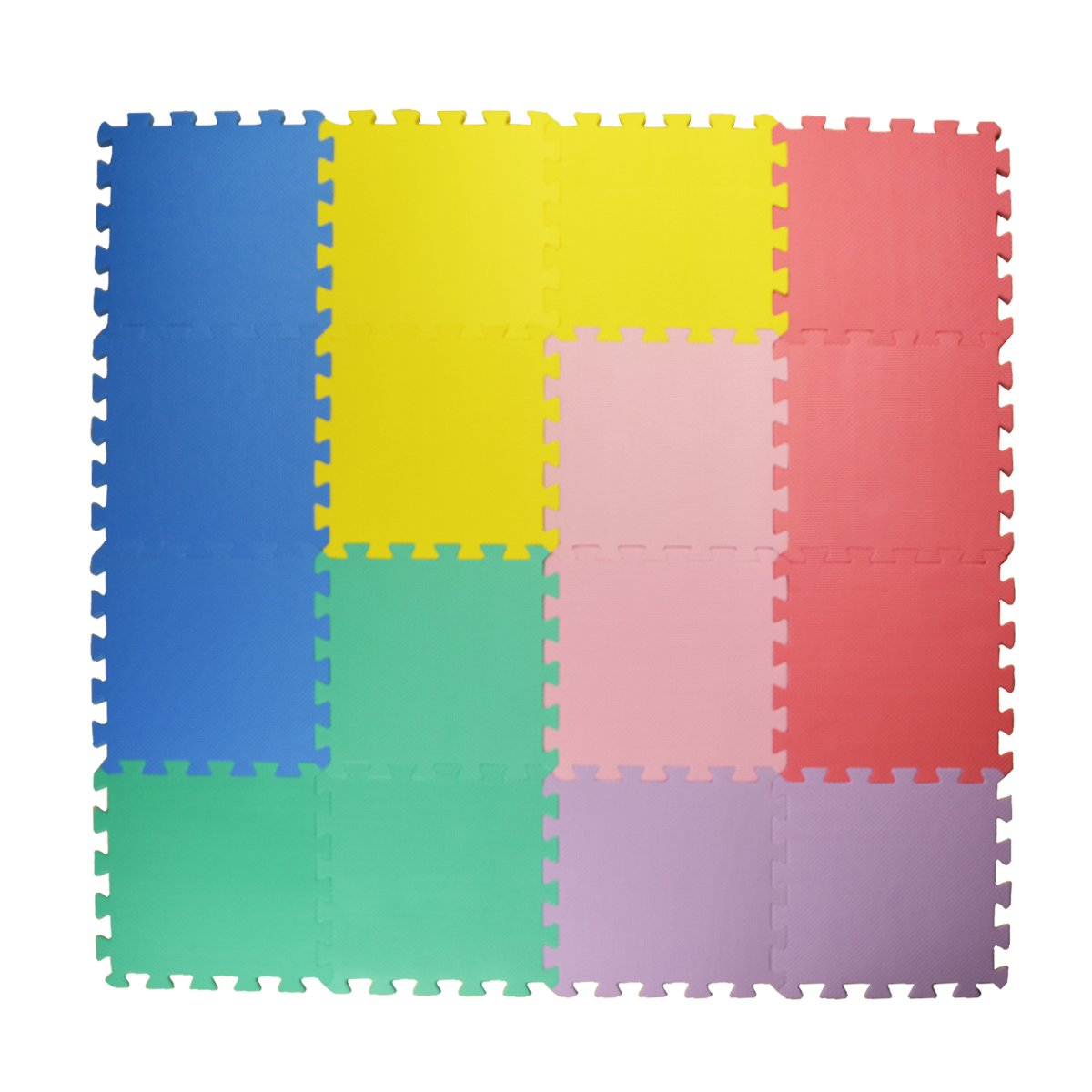 8137b040ac9 Get Quotations · Hippih Kid s Multicolored Puzzle Play Mat Foam Play Mats  (16 Tiles ) Kids Puzzle Playmat