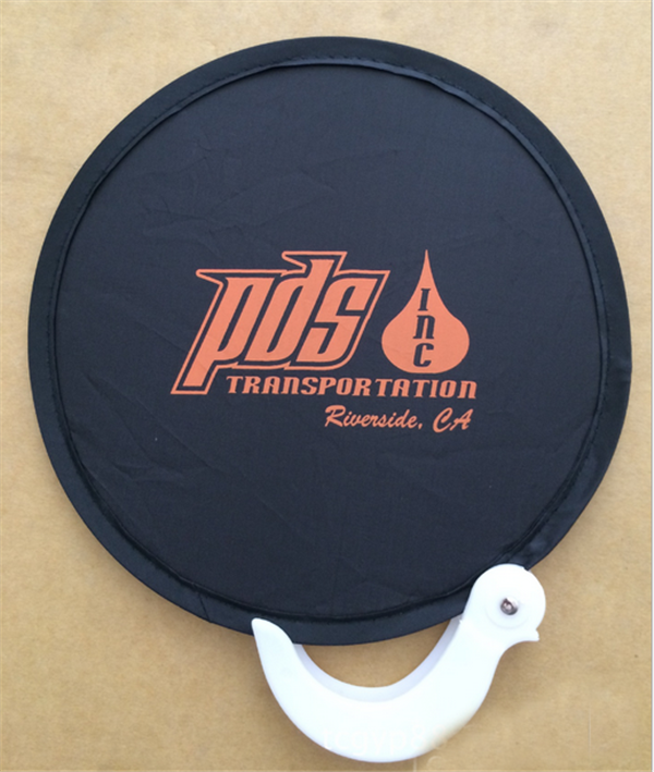 Professional Flying Disk Nylon Foldable Hand Fans 190T Frisbee