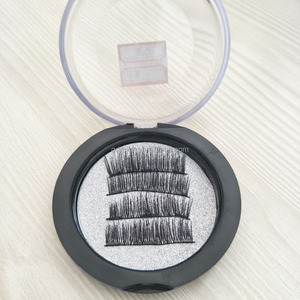 2018 new arrival silk magnetic eyelash hand made synthetic magnet eyelash