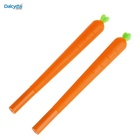 Cute creative cartoon vegetable carrot roller ball pen funny school stationery office supply gifts silicone gel ink pens