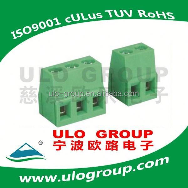 PCB RISING CLAMP TERMINAL BLOCKS Pitch: 5.0mm 5.08mm from ULO group Manufacturer the material same as Phoenix contact freesample