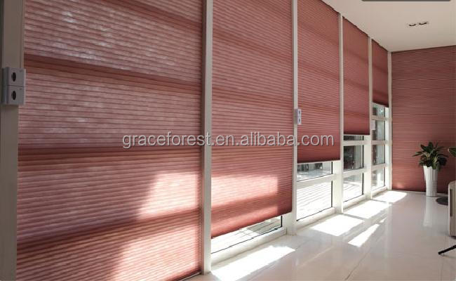 Honeycomb blinds fabric printed honeycomb shades fabric for indoor decration