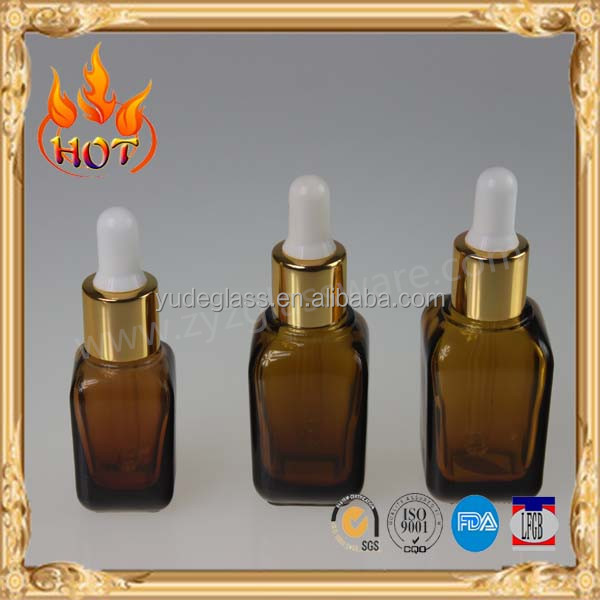 dropper amber glass bottle for cosmetic
