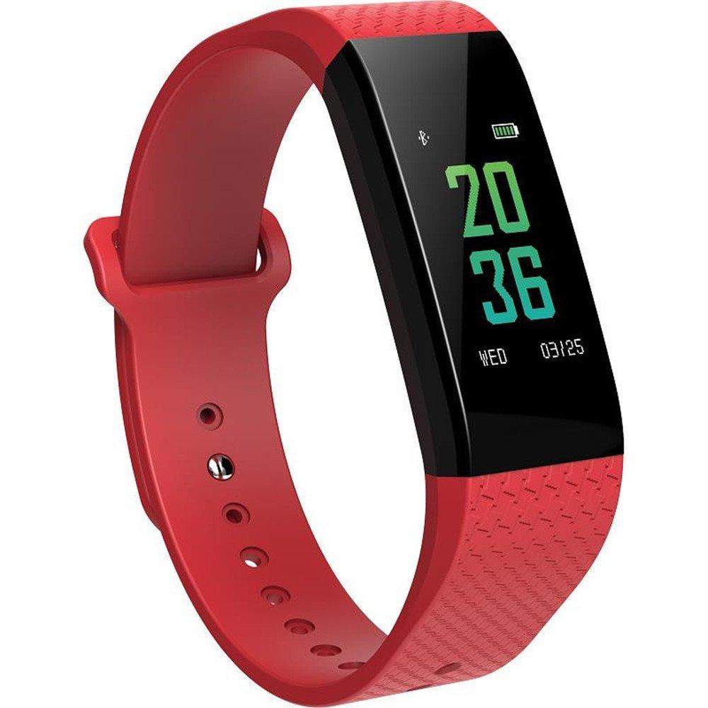 OLSUS Sports Smart Bluetooth Bracelet w/Heart Rate Ecg, Sleep Temperature Test - Red