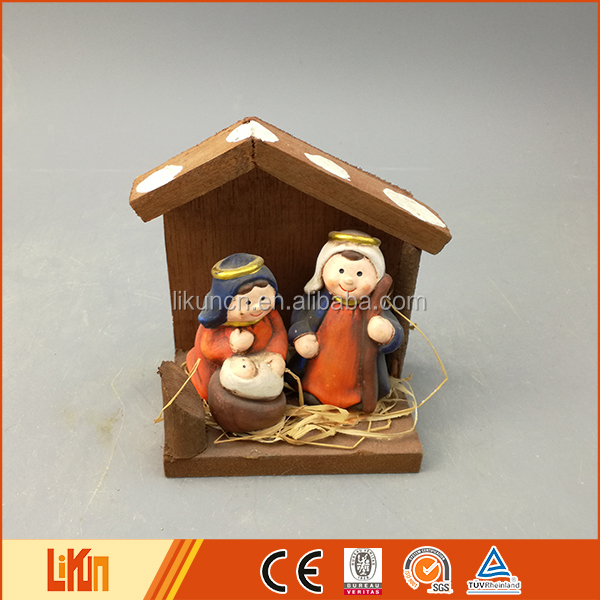 2016 new Christmas decoration pottery ceramic nativity sets indoor
