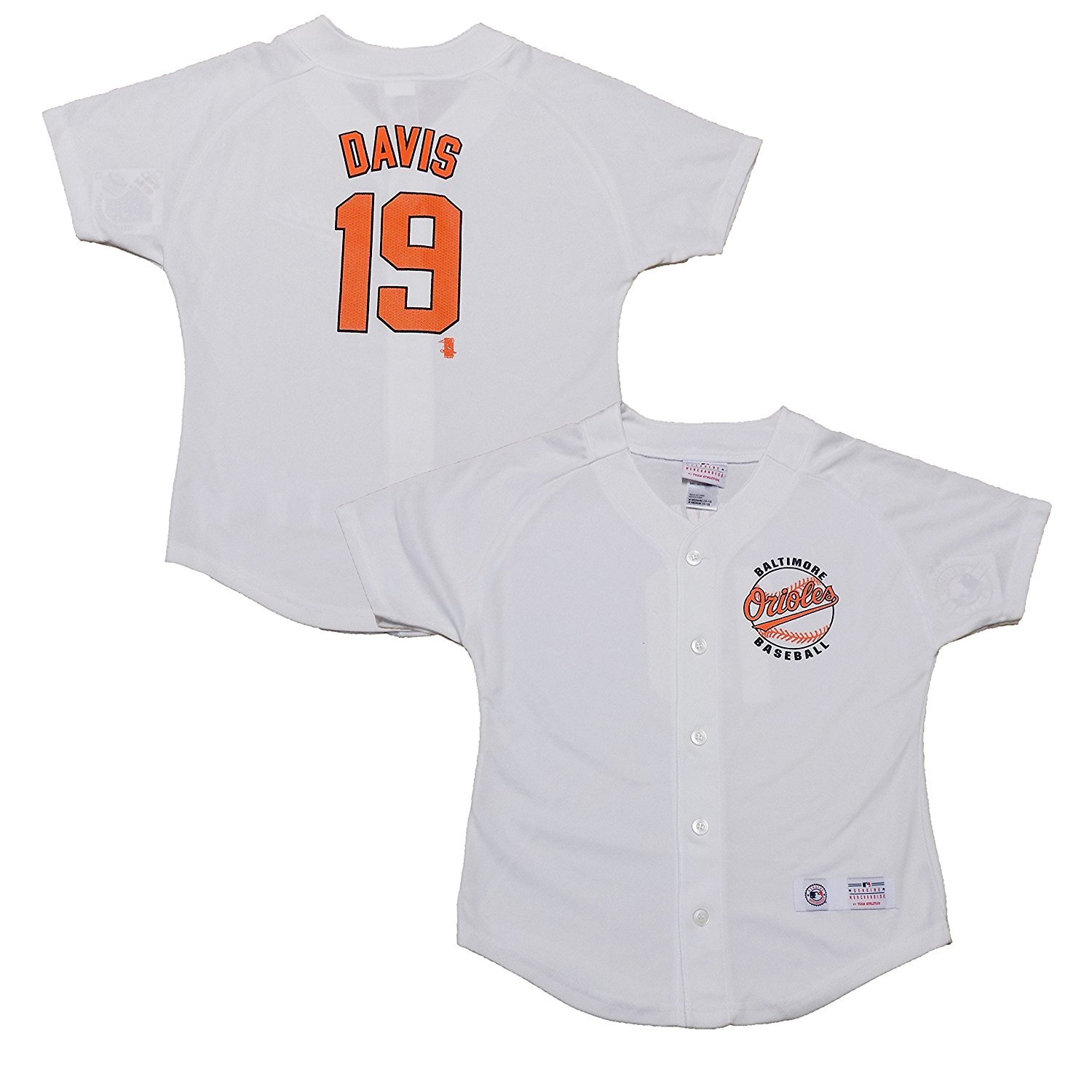Get Quotations · OuterStuff Chris Davis Baltimore Orioles Girls White Youth  Player Jersey 9318db7d9