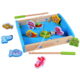 Rolimate Wooden 3D jigsaw puzzle Magnetic Wooden Fishing Game Irregular shape recognition educational wooden toys