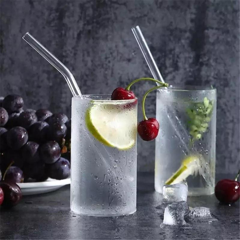 Amazon Hot Sales Reusable Borosilicate Straw Glass Drinking Straw