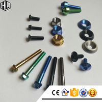 High Quality Aerospace Grade 5 Ti6Al4V Titanium Fasteners for Racing in Anodized Colors Used for Motor Bikes