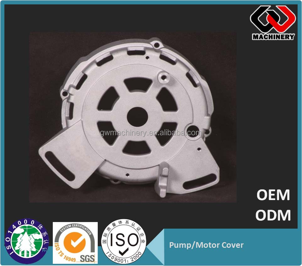 15 years Manufacturer Aluminum Die Casting pump/motor Parts - Casting Product CNC pump cover aluminum investment casting