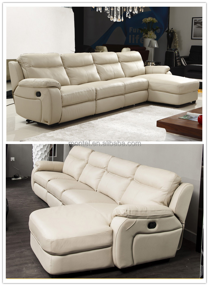 Cheers Furniture Electric Leather L Shape Sofa With Recliners