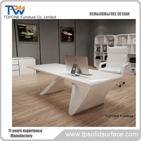 Fashion Design China Factory Supply modern Solid Surface Office Table Furniture