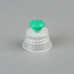 28mm Non spill dishwashing liquid bottle plastic push pull cap