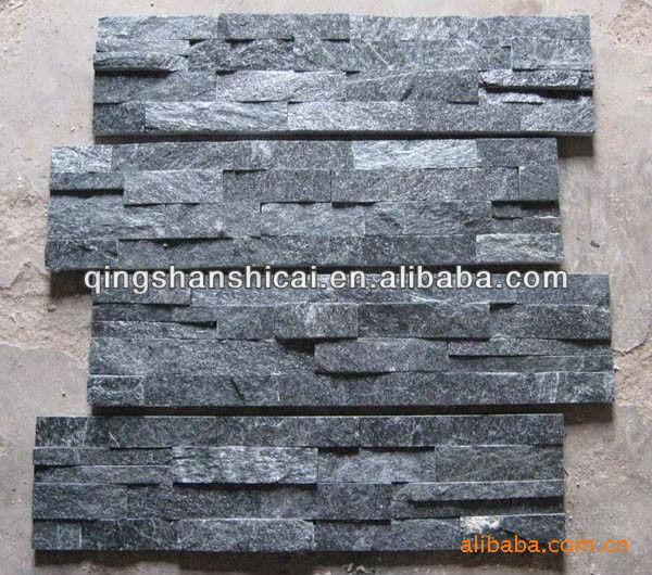 Quarzite nera z mattoni interni decorativi muri di mattoni di ...