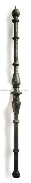 Cast iron baluster, forged iron or wrought iron balustrades
