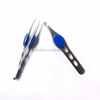 Custom Steel Slanted Tip Eyebrow Tweezers
