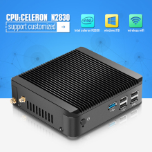 2015 New Fanless PC Mini PC Celeron Mini pc win8.1 X30-N2830  2.16GHz Dual Thread support linux / win 7 / win8 with Vesa Mount