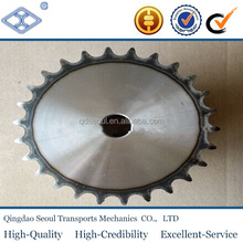 "OEM standard pitch 15.875mm 50 simplex roller chain 26T harden teeth 5/8"" convex driven sprocket"