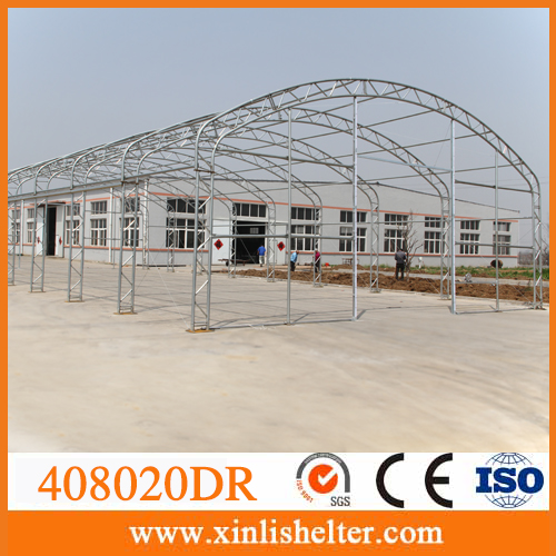 Self storage steel frame tent tarp buildings