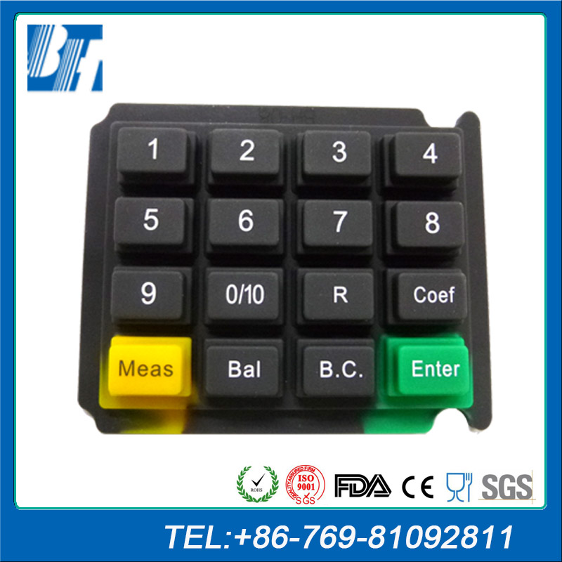 Reasonable In Price POS System Terminal Plastic Rubber Button Silicone Keypad
