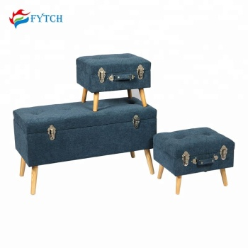 Outstanding Fyt115 Fuzhou Fytch Set 3 Fabric Bench Seat Wholesale Bedroom Home Center Navy Blue Fancy Stool Buy Fancy Stool Home Center Stool Diy Suitcase Stool Squirreltailoven Fun Painted Chair Ideas Images Squirreltailovenorg