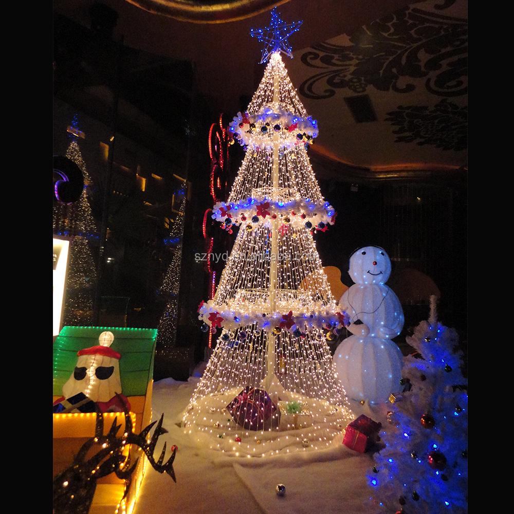 Fashionable Umbrella Ball Christmas Tree White Outdoor Lighted ...