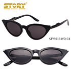 5f419f85fc22b STORY STY92133YD Peekaboo cute sexy retro cat eye sunglasses women small  black white 2018 triangle vintage