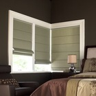 Haoyan manual and motorized window shade waterproof elegant roman blinds