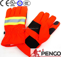 Fire fighters fireman protective gloves heat resistant fire safety gloves