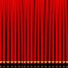 used stage curtains flame resistant electric velvet blackout stage curtain