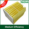 washable pocket medium efficiency F5 F6 F7 F8 bag type industrial air filter