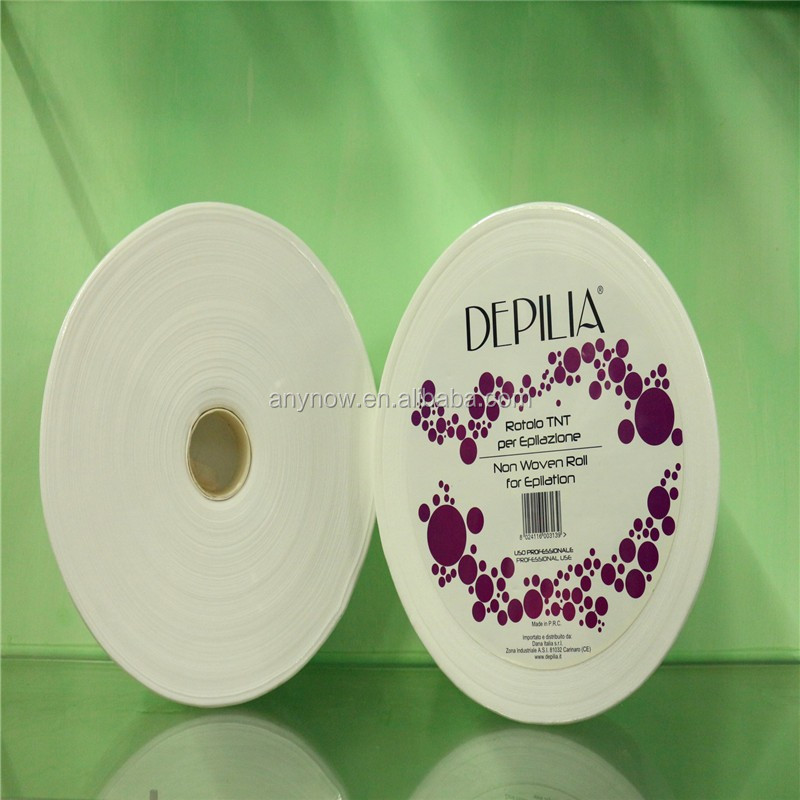 Nonwoven disposable depilatory wax strip wax paper rolls