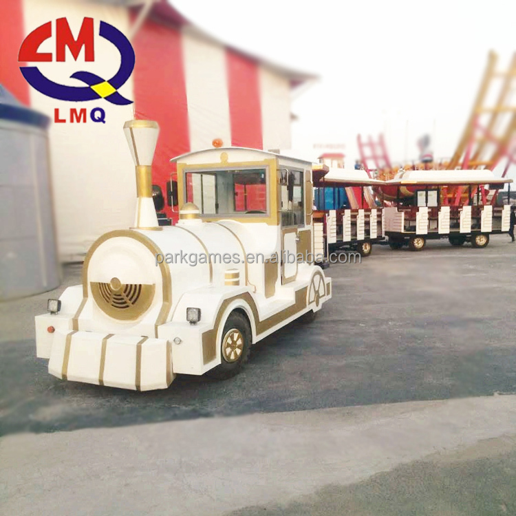 24seats amusement park battery trackless train China road train