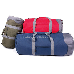 Custom polyester foldable travel bag / sport duffle / weekend travel bag