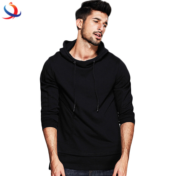 fce97bd05 Custom Printed Mens Blank Black Hoodies With No Labels Cheap Wholesale
