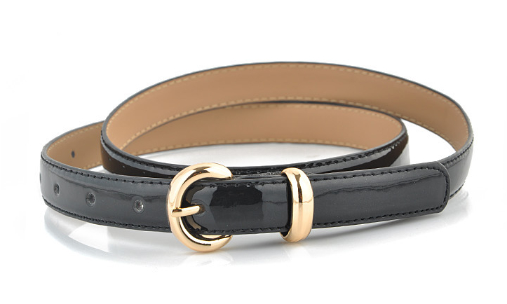 New Woman and ladies thin shinny PU Fashion belt for garments