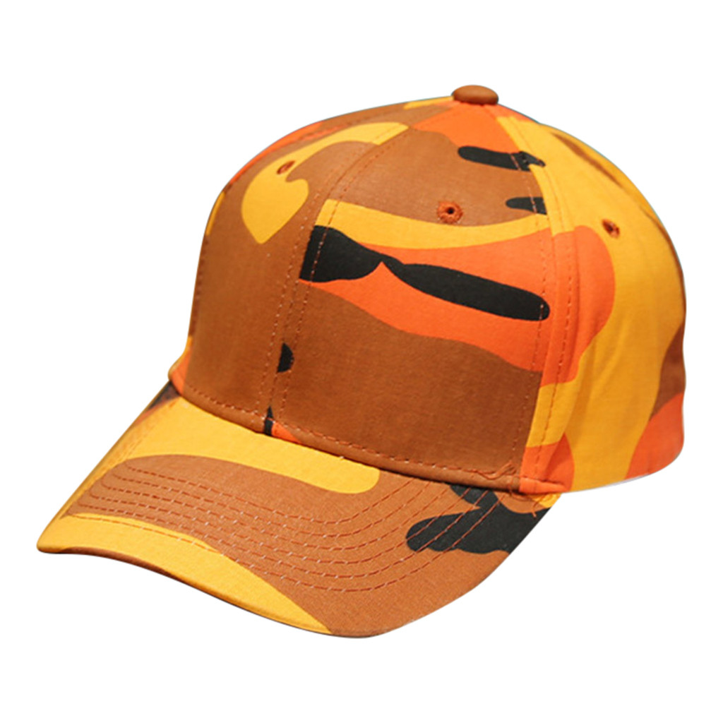 7546e48db Men and Ladies can adjust the uniform baseball cap men and women outdoor  camouflage stitching plain baseball visor kappe