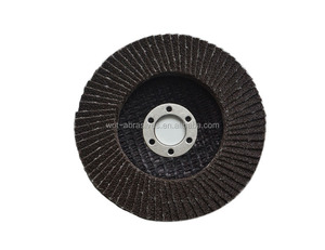 "T27 4"" 80# Fiberglass Backing With Non Woven Cloth Abrasive Flap Disc Making Machine"
