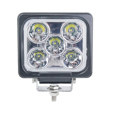 Factory price 5inch 50W (5pcs *10W Crees Chip) Square LED work light for Truck Tractor heavy Vehicle
