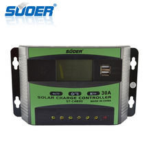 Suoer Charge Controller 48 Volt 30A Manual Pwm Solar Charge Controller