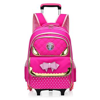 f1fa446d319d Girls Rolling Backpacks Students School Wheeled Trolley Backpack - Buy  Girls Rolling Trolley Backpacks,Students Trolley Backpack,School Wheeled ...