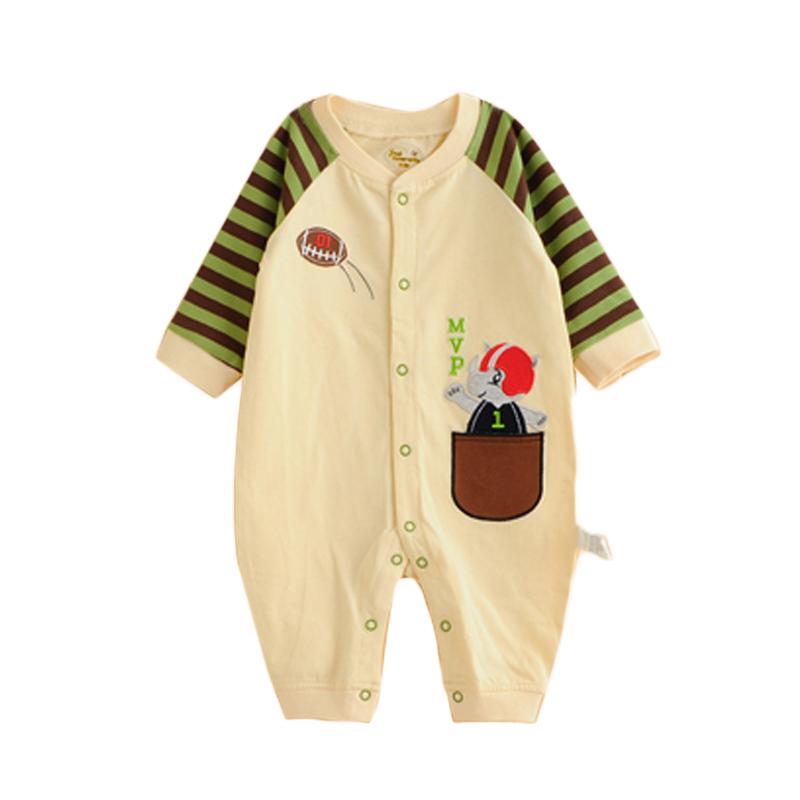 47f3351a56596 3-24 أشهر الرضع رومبير الطفل القطن فستان تصميم ارتداء