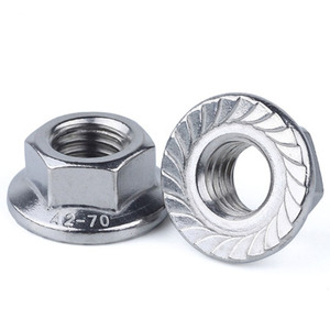 M10 M16 DIN6923 A2 A4 Stainless Steel Serrated Hex Flange Nut