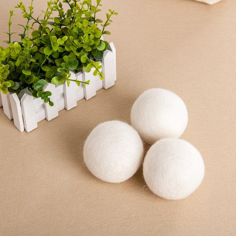 -Pack XL Premium 100% Cotone Lana Merino Lavanderia Dryer Balls e lavaggio Biologico essiccatore macchina feltro dryer balls