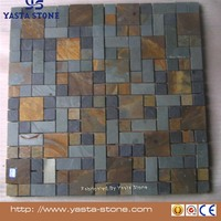 Yasta 2016 Low price multicolor slate mosaic tiles for wall sale