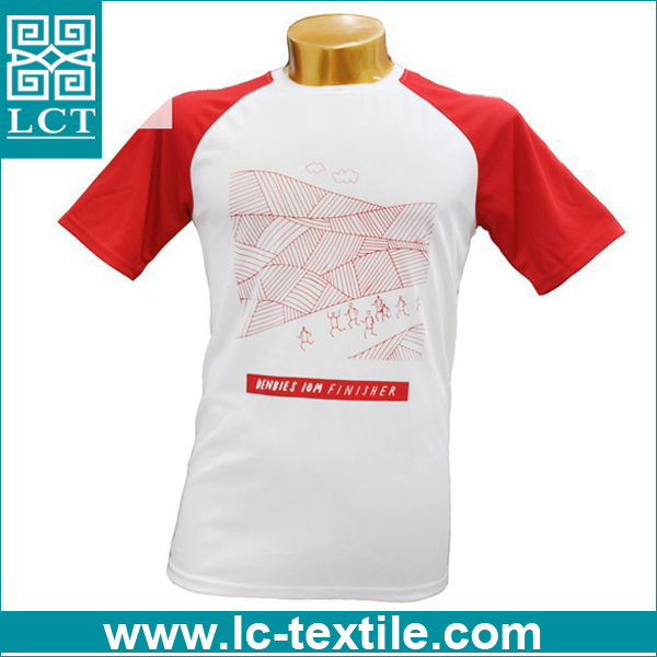 personalized design red and white color tirupur t shirt for running event