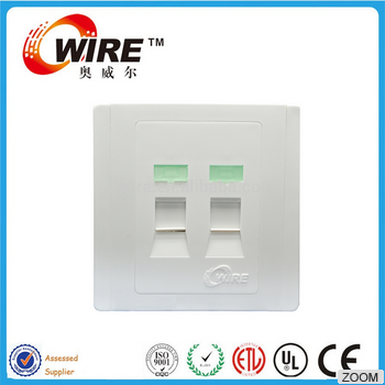 Network Cable Wall Face Plate Network RJ45 Face Plate Toolless Dual Module Type 2port Face Plate
