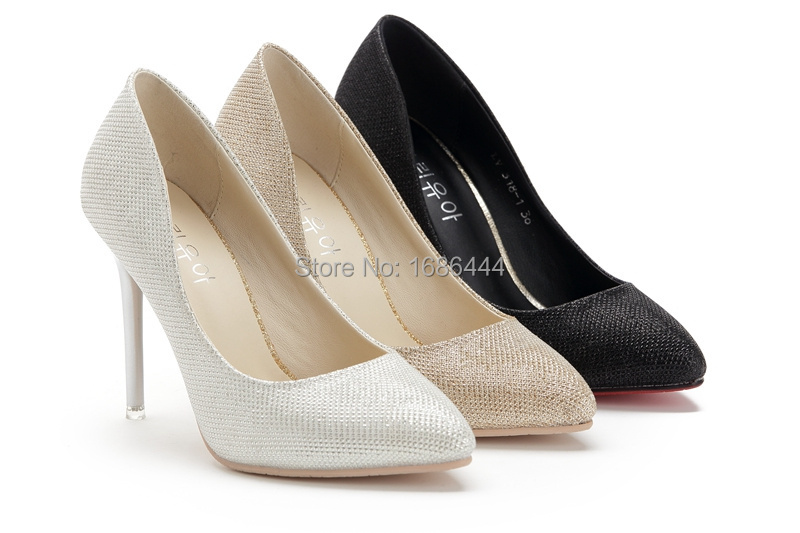 Wfeier 318-1  high heels , women fashion  leather pumps, woman classic  sandals. gold, silver, black.  size:34-39.