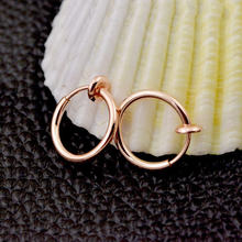 1 шт., серьги-кольца для пирсинга живота, губ и носа, в стиле панк(Китай)